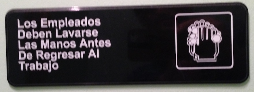 """Bathroom Signs Spanish may 