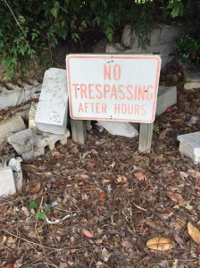 no trespass after hours